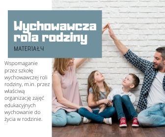 Kierunki realizacji polityki oświatowej - Wspomaganie przez szkołę wychowawczej roli rodziny
